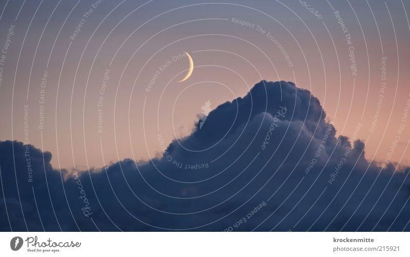 Sky Clouds Emotions Lighting Sleep Idyll Moon Night sky Progress Night Gorgeous Cumulus Celestial bodies and the universe Moonlight Slumber Moonstruck