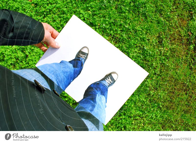 Human being Hand Summer Meadow Legs Funny Feet Leisure and hobbies Exceptional Fingers Lifestyle Lawn Jeans Chucks Deception Concealed