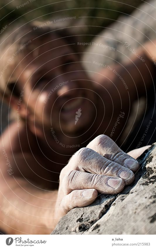 Go Climb A Rock! (III) Lifestyle Manicure Sports Climbing Mountaineering Climbing facility Quarry Human being Masculine Hand 1 Environment Blonde Movement