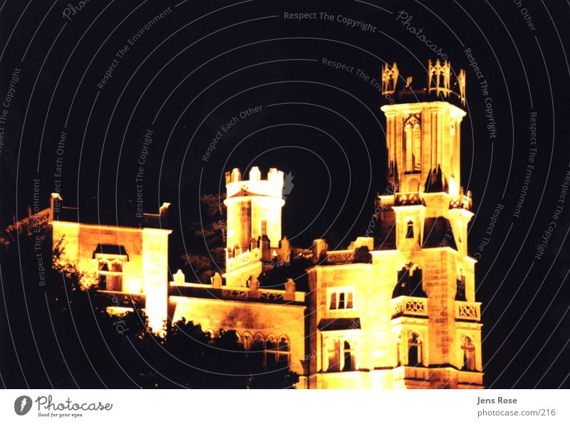 castle Night Architecture Old