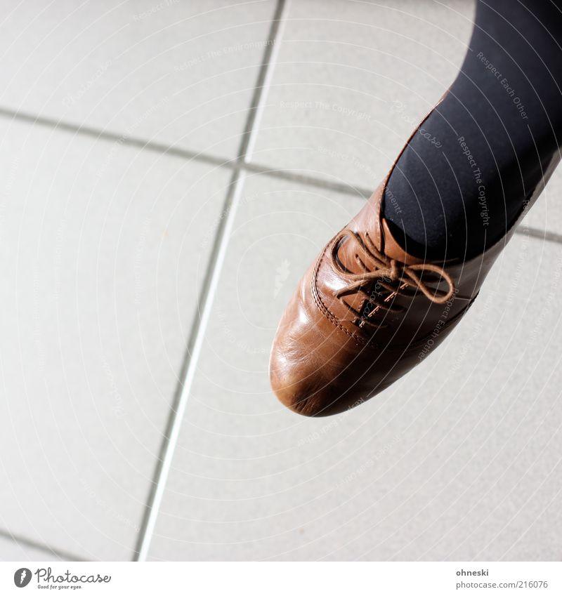 Brown Footwear Clothing Tile Stockings Tights Seam High heels Shoelace Style