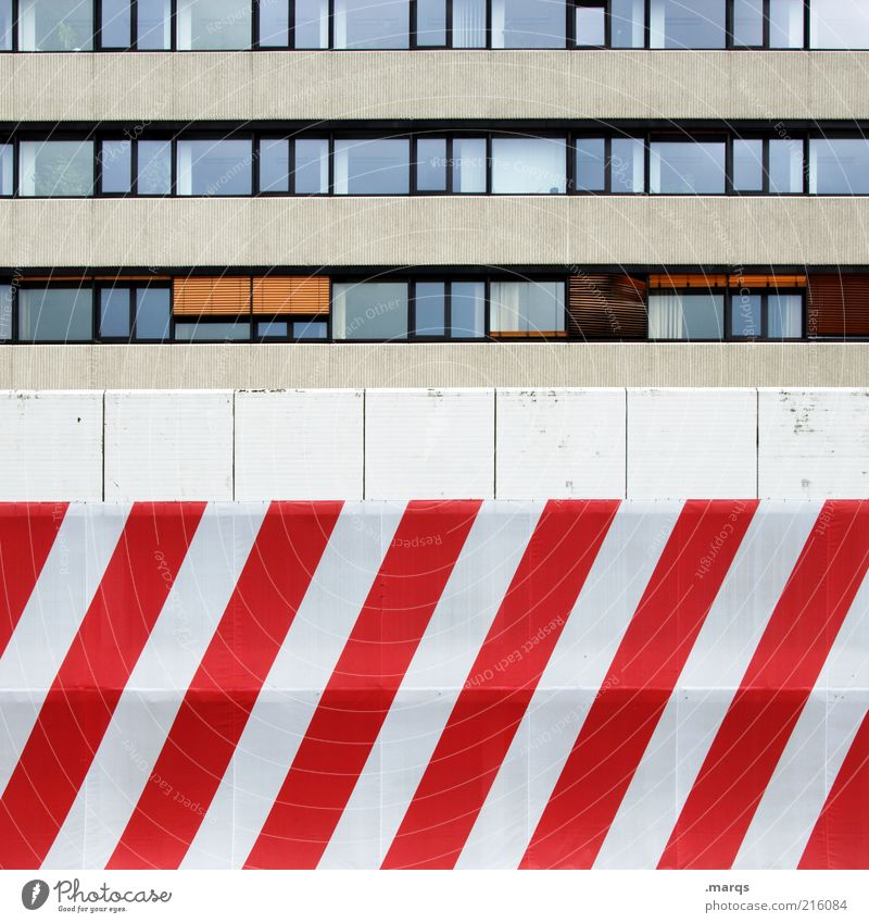 White City Red Colour Wall (building) Window Building Line Architecture Design Concrete Facade Lifestyle Perspective Arrangement Living or residing