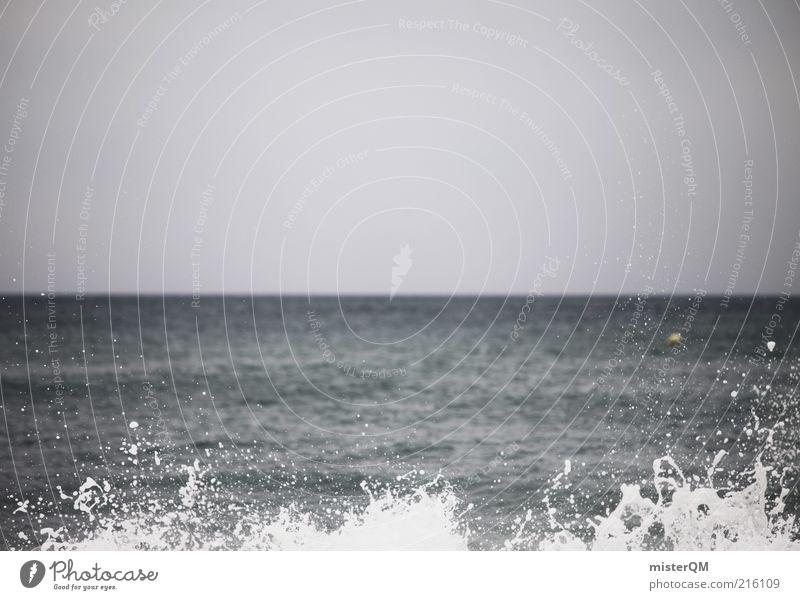 Sky Blue Water Ocean Far-off places Dark Coast Air Horizon Rain Waves Power Exceptional Esthetic Future Baltic Sea
