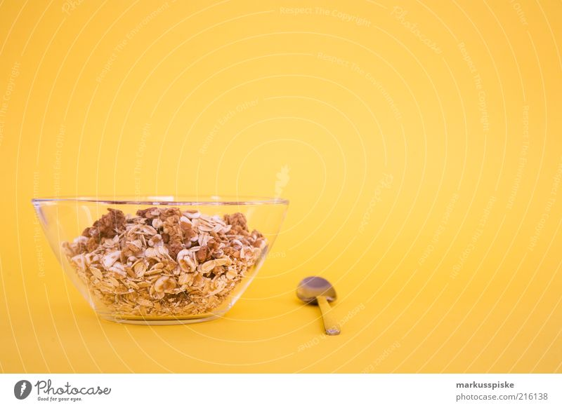 müsli time Food Cereal Nutrition Breakfast Organic produce Vegetarian diet Diet Beautiful Healthy Delicious Copy Space top Food photograph Isolated Image