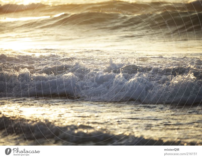 Waves. Water Drops of water Ocean Swell Undulation Wave action Inject Salty Air Vacation & Travel Gorgeous Sea water White crest Dusk Mediterranean sea Green