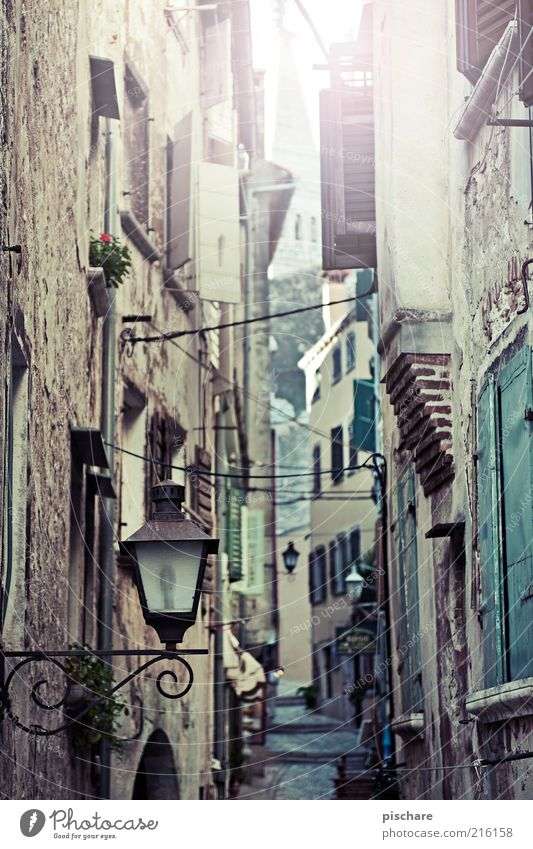 Old City House (Residential Structure) Facade Retro Authentic Culture Near Village Historic Narrow Alley Old town Mediterranean Narrow Building