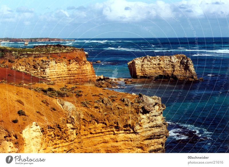 Ocean Stone Waves Coast Rock Australia Surf Sandstone Great Ocean Road
