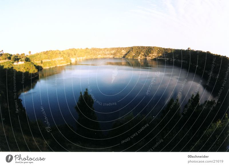 Water Green Blue Lake Australia Volcano Volcanic crater