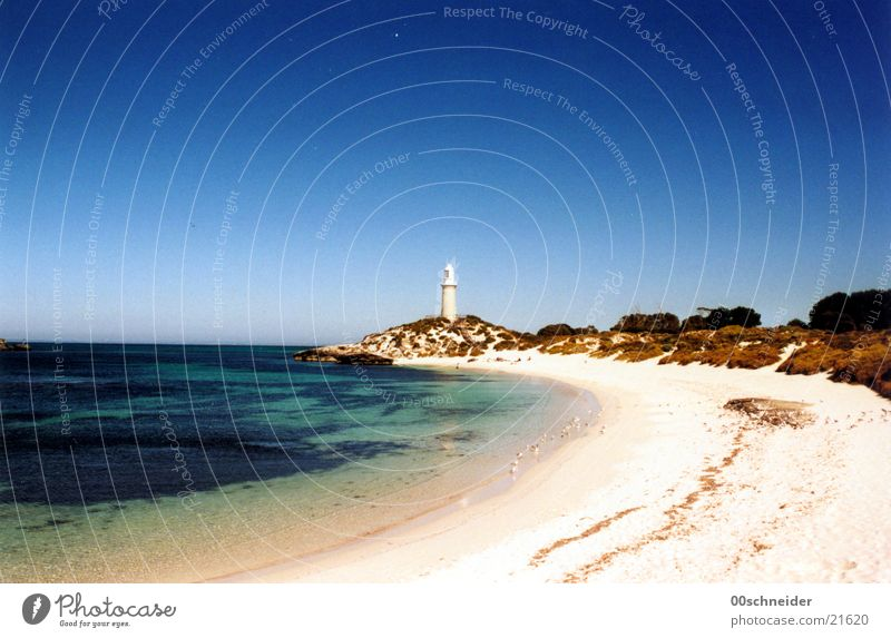 rottnest island/lighthouse Ocean Coast Lighthouse Beach Iceland Australia Loneliness Summer Island Rock Bay Sand Water red-nested Sun