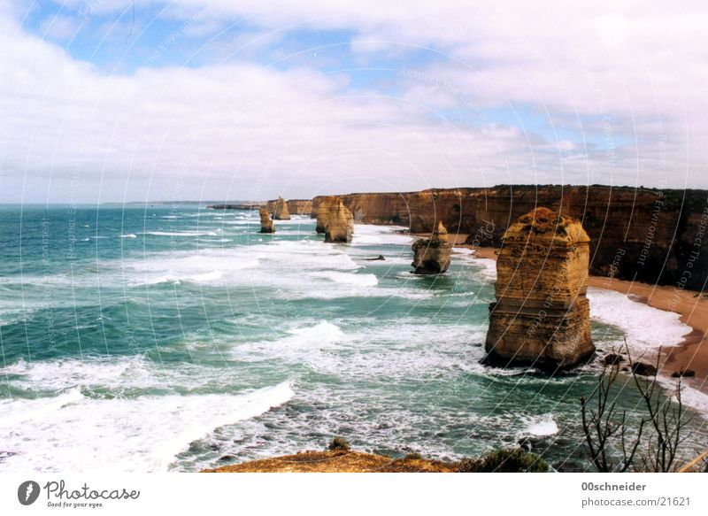 twelve apostles 12 Twelve Apostles Australia Coast Ocean Sandstone Cliff Surf great road Rock curt
