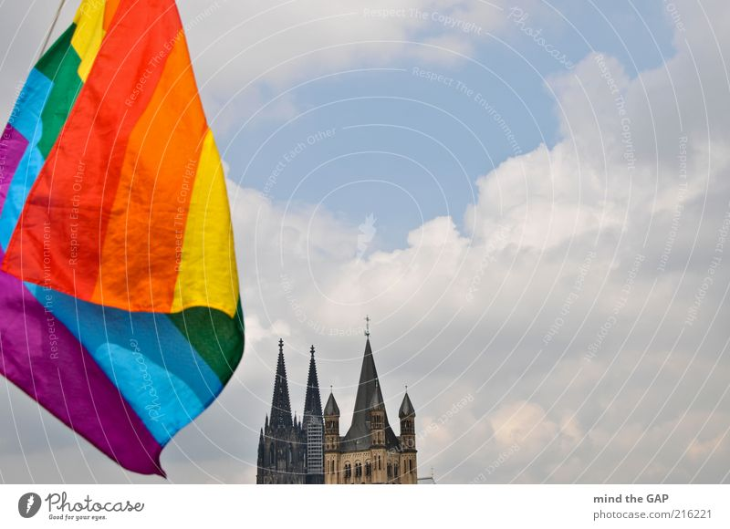 Cologne Pride - Cologne Pride (rainbow flag in front of Cologne Cathedral) Tourism Summer Entertainment Event Feasts & Celebrations Christopher Street Day