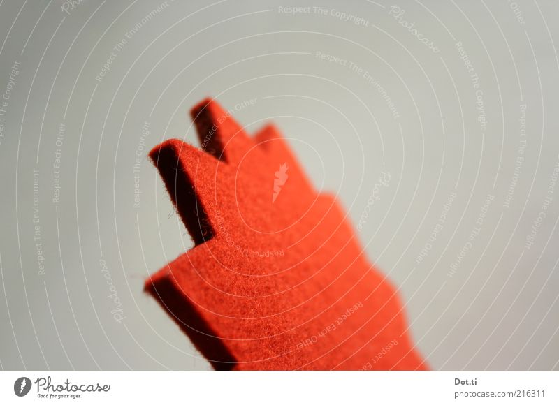 Red Decoration Point Soft Star (Symbol) Sign Material Section of image Object photography Prongs Zigzag Felt Craft materials