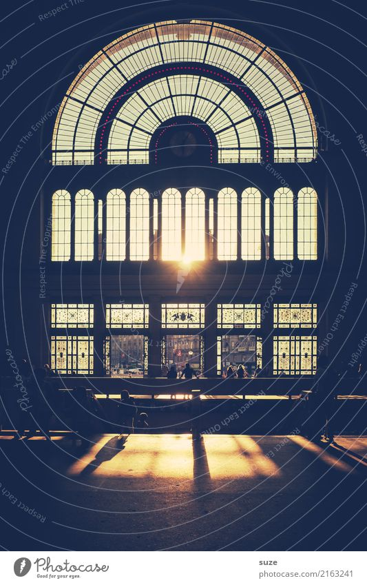 Generous Lifestyle Tourism Sightseeing City trip Culture Town Capital city Train station Gate Manmade structures Architecture Facade Window Door