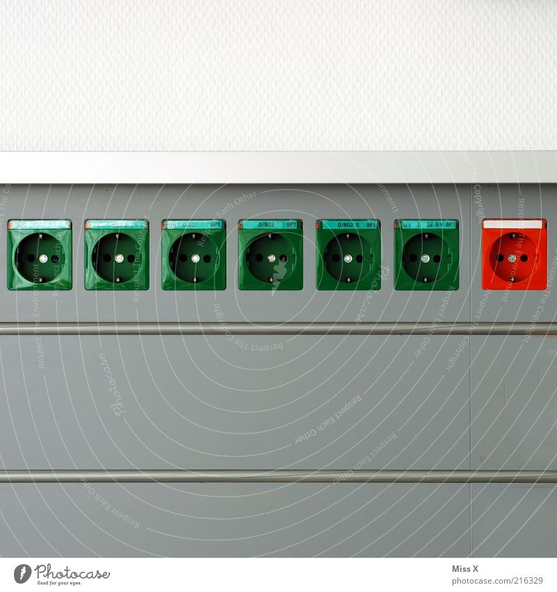 Green Red Colour Wall (building) Wall (barrier) Design Energy Energy industry Electricity Technology Row Socket Connection Technical Selection