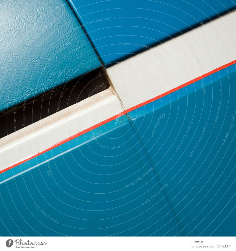 straight Style Design Metal Line Stripe Esthetic Simple Blue Red White Arrangement Positive Colour photo Detail Copy Space bottom Azure blue Background picture