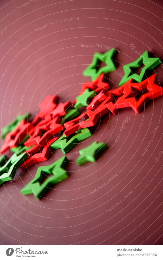Christmas & Advent Green Red Moody Brown Star (Symbol) Decoration Fantastic Arrange Christmas decoration Christmas star