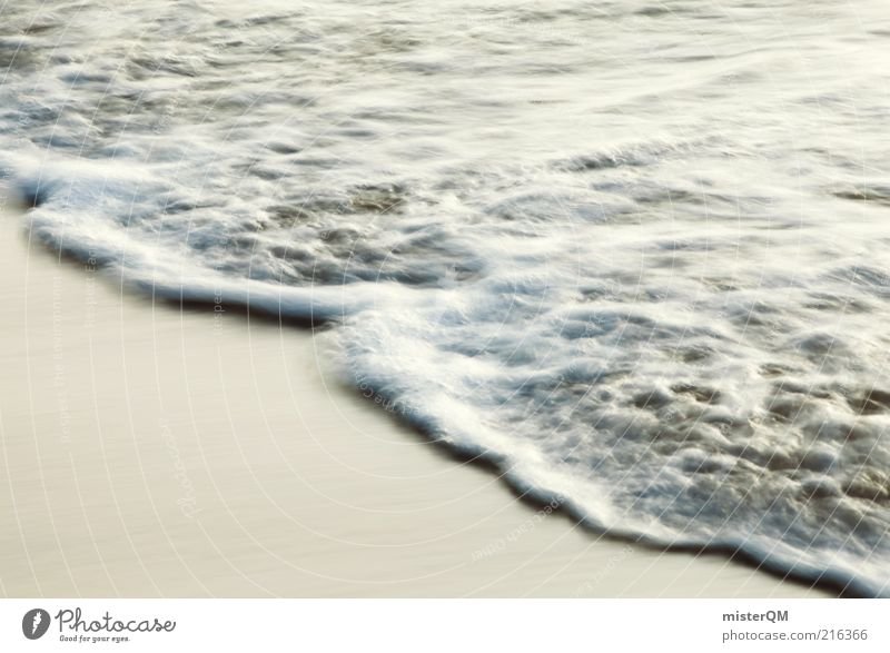 Water White Ocean Beach Vacation & Travel Relaxation Movement Contentment Coast Waves Esthetic Elements Eternity Foam White crest Tide