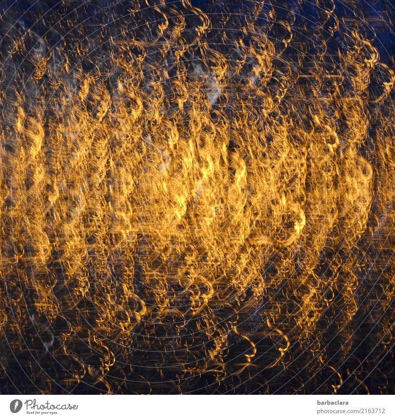 Beyond the mainstream, angel hair, abstract. Feasts & Celebrations Christmas & Advent Curl Glass Gold Illuminate Exceptional Fantastic Glittering Moody Movement