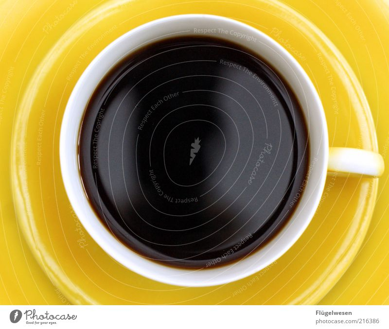 Nutrition Yellow Relaxation Contentment Beverage Coffee Drinking Round Thin Crockery Strong Cup To enjoy Mug Thirst Espresso