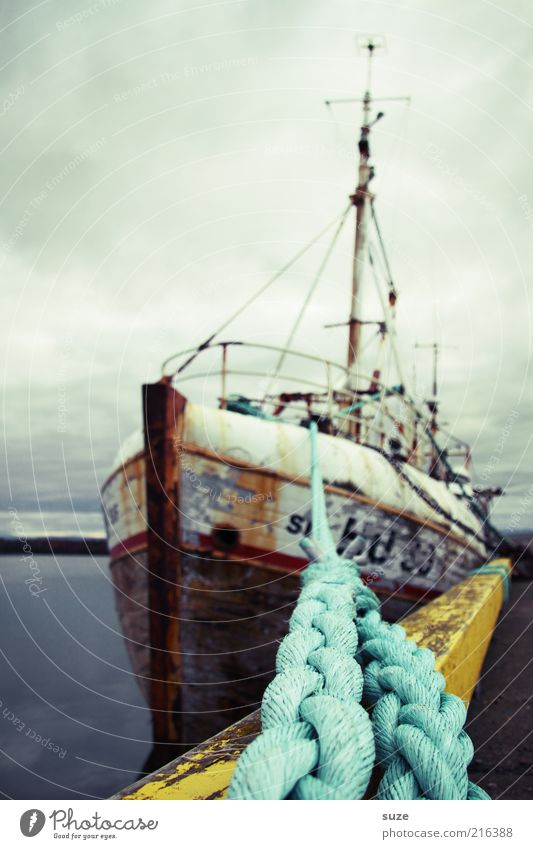 Sky Old Ocean Clouds Environment Cold Air Lie Watercraft Weather Authentic Elements Rope Harbour Fantastic Rust