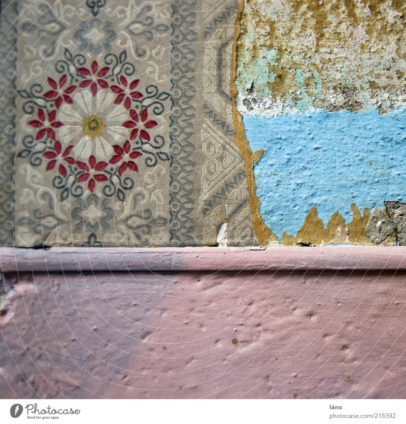 Old Wall (building) Wall (barrier) Room Broken Decoration Living or residing Interior design Exceptional Wallpaper Detail Building Canceled Multilayered