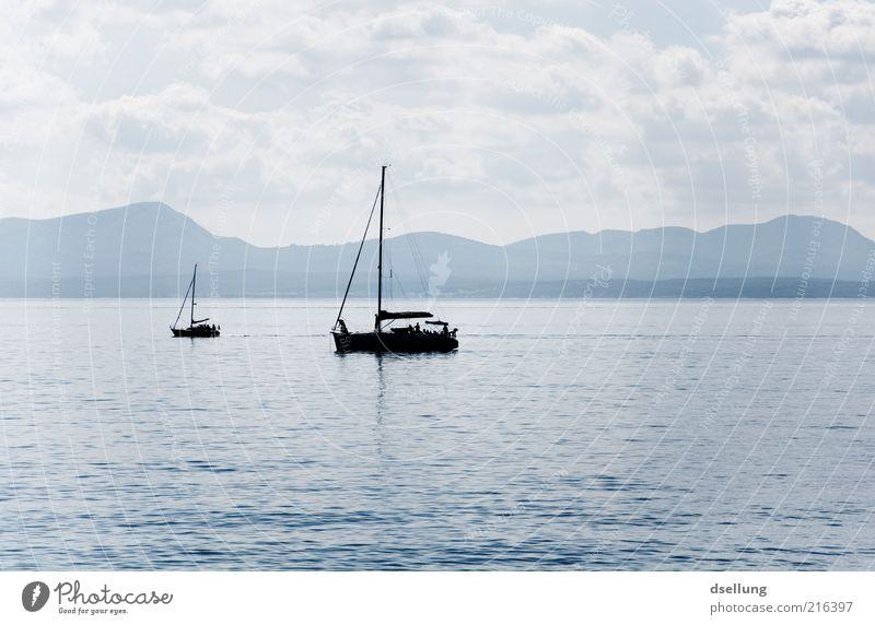Sky Blue Water Ocean Black Calm Relaxation Landscape Mountain Gray Lake Watercraft Horizon Waves Swimming & Bathing Island