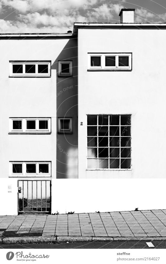 Rectangle in Stuttgart House (Residential Structure) Facade Living or residing Contrast Modern architecture Black & white photo Exterior shot Deserted
