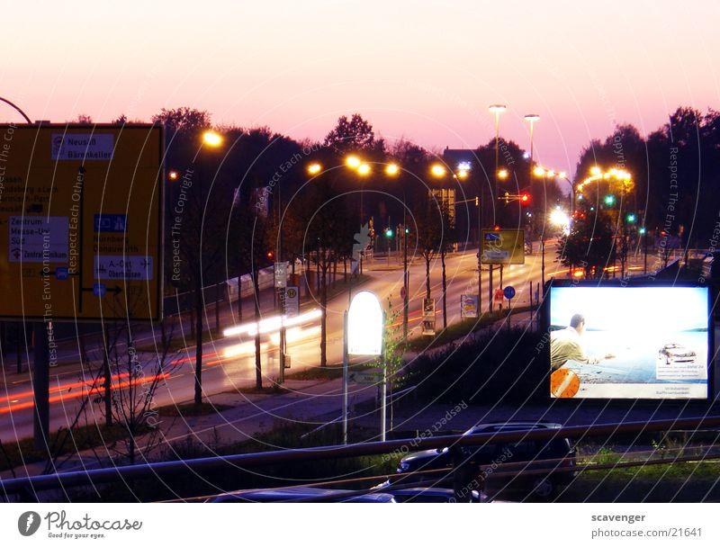 White Green Red Street Lamp Movement Lanes & trails Car Transport Speed Action Advertising Lantern Vehicle Street lighting Dusk