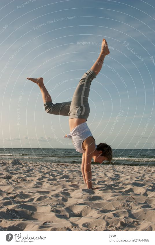 early sports :) Happy Healthy Harmonious Well-being Contentment Vacation & Travel Trip Adventure Freedom Summer Summer vacation Beach Ocean Sports Yoga