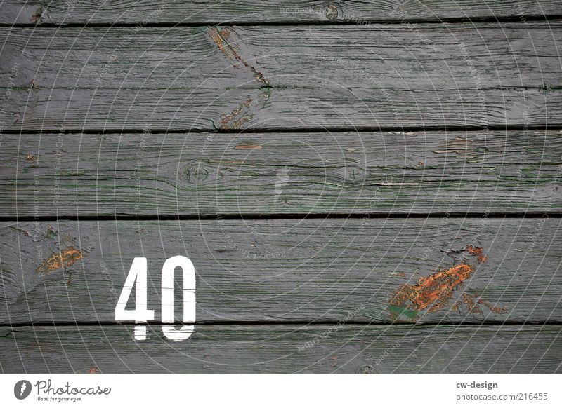 from 40. Wood Sign Digits and numbers Old Retro Trashy Gray White Decline Transience Wooden wall Information Gloomy Wooden fence Wooden floor Facade Cladding