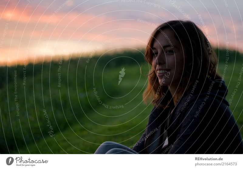 Julia sunset. Human being Feminine Young woman Youth (Young adults) Woman Adults Face 1 18 - 30 years Environment Nature Landscape Sky Clouds Sunrise Sunset