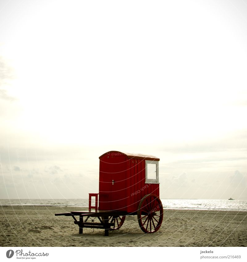 Sky Nature Water Old Sun Red Summer Beach Ocean Landscape Environment Horizon North Sea Camping Trailer