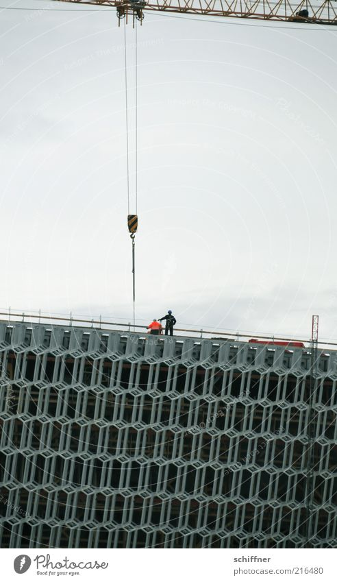 Architecture Building Work and employment Construction site Manmade structures Iceland Crane Construction worker Scaffolding Concert Hall Honeycomb pattern