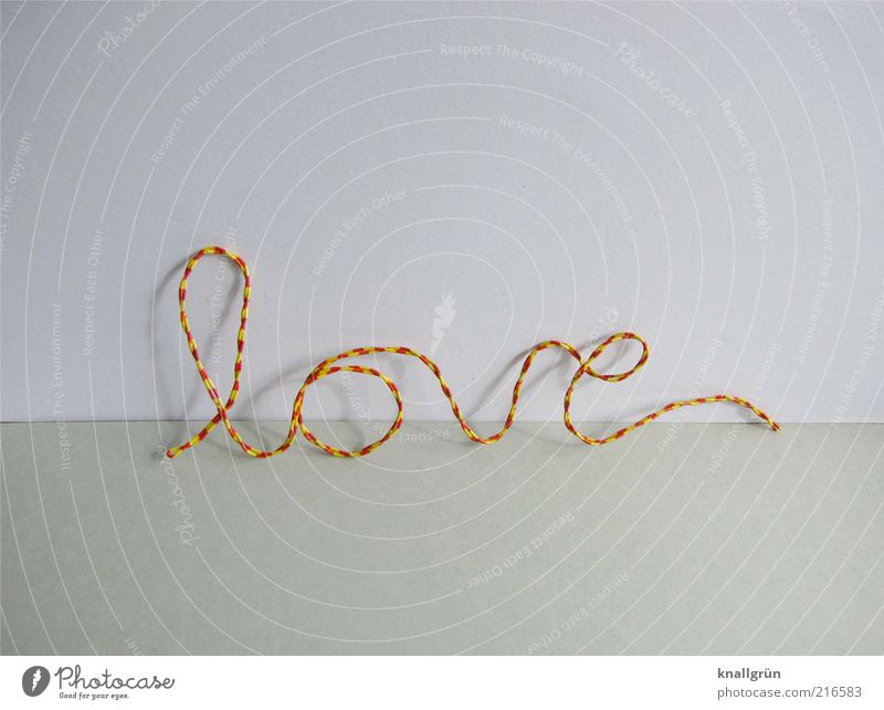 White Red Love Yellow Emotions Gray Characters Relationship Wire Striped Infatuation Curved Display of affection Calligraphy With love
