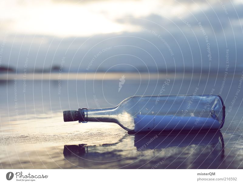 From the Past. Adventure Esthetic Mail Bottle Message in a bottle Information Communicate Means of communication Ocean Flotsam and jetsam Find Old fashioned