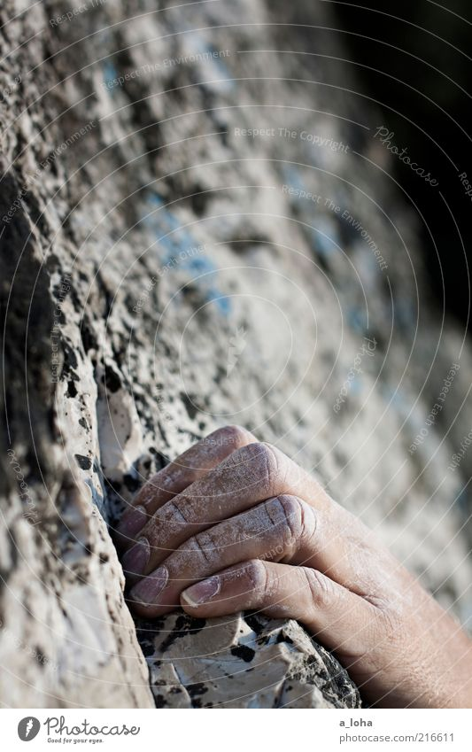 Human being Hand Sports Gray Power Rock Fingers Cool (slang) Climbing Natural Firm Touch To hold on Brave Athletic