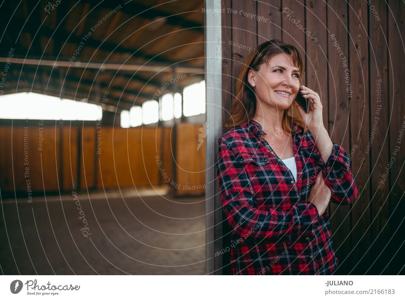 Mature woman is having a conversation on her phone Human being Woman Vacation & Travel Adults Life To talk Lifestyle Feminine Business Communicate