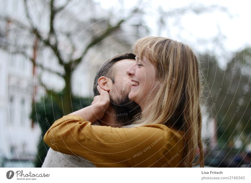 happy Well-being Contentment Trip Couple Partner 2 Human being 18 - 30 years Youth (Young adults) Adults Blonde Long-haired Touch To enjoy Kissing Laughter Love