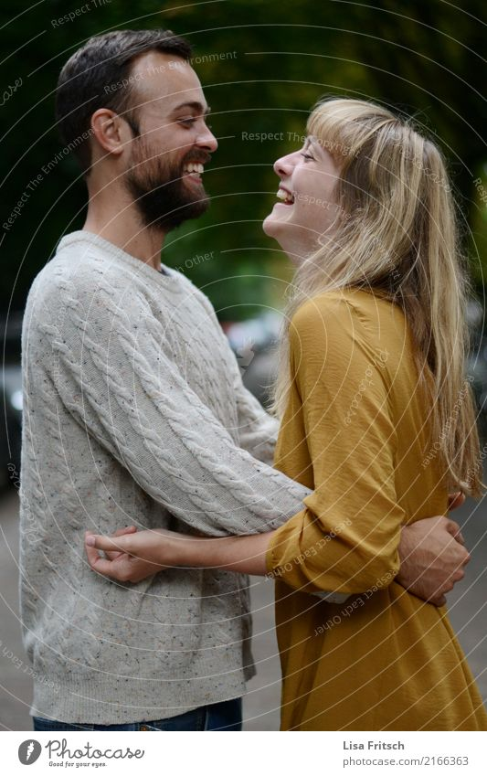 Human being Youth (Young adults) Young woman Young man 18 - 30 years Adults Love Emotions Natural Feminine Laughter Happy Couple Together Masculine Blonde