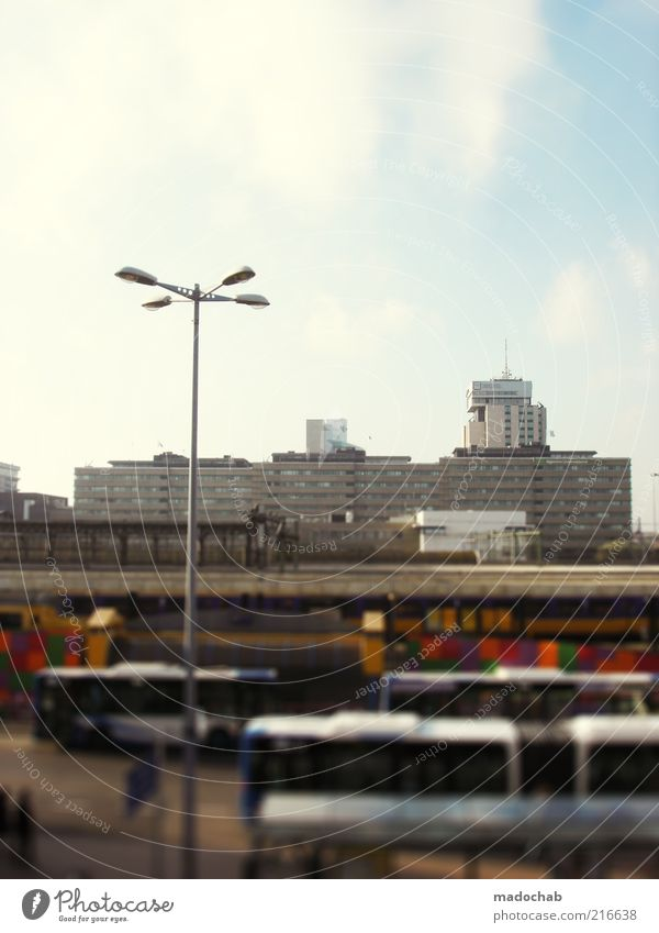City Street Life High-rise Transport Traffic infrastructure Downtown Means of transport Movement Bus travel Bus terminal
