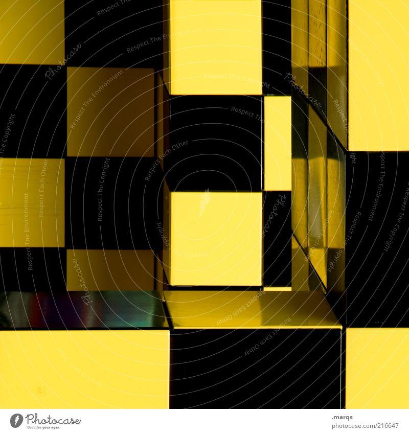 pattern Style Design Architecture Plastic Exceptional Sharp-edged Uniqueness Yellow Black Colour Idea Complex Creativity Arrangement Perspective Whimsical
