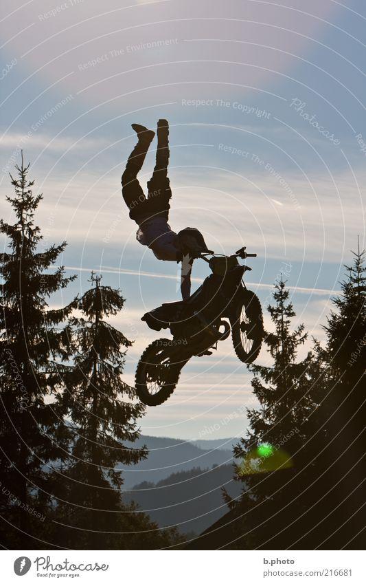 flying away Joy Leisure and hobbies Sports Motorsports Sportsperson Motorcycle Motocross bike Motocross driver Motocross racing Shows Motorcyclist