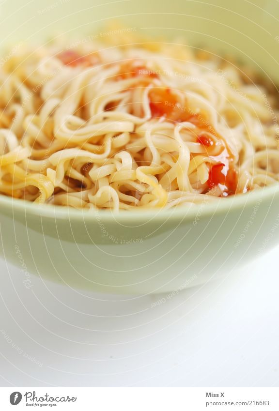 White Nutrition Food Hot Long Delicious Noodles Dinner Diet Lunch Bowl Close-up Soup Sauce Vegetarian diet Stew