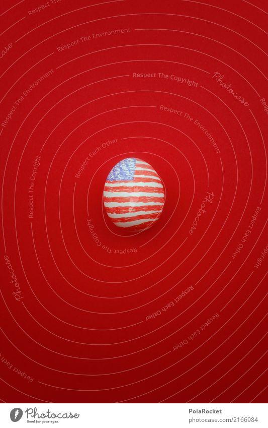 #A# U.S.E.I. Art Work of art Esthetic Egg Uniqueness Eggshell USA American Flag US Army trump Symbols and metaphors Creativity Red Blue US election Capitalism