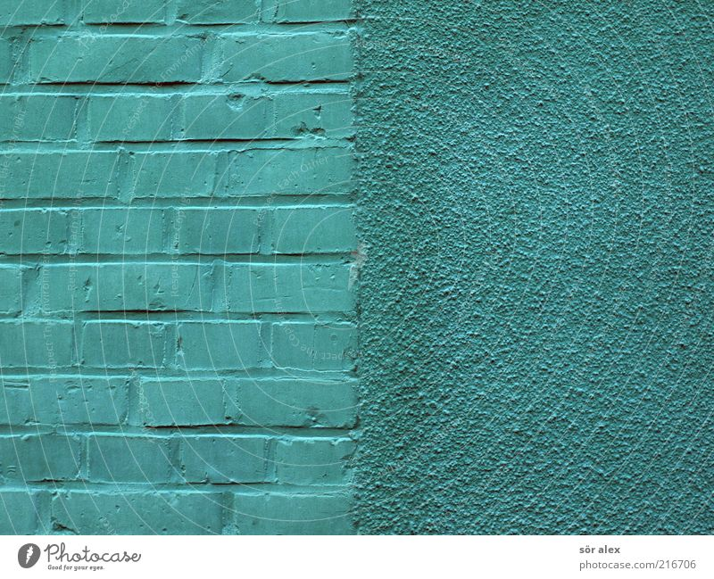 Blue Green Beautiful House (Residential Structure) Wall (building) Architecture Wall (barrier) Stone Work and employment Facade Crazy Turquoise Plaster Build