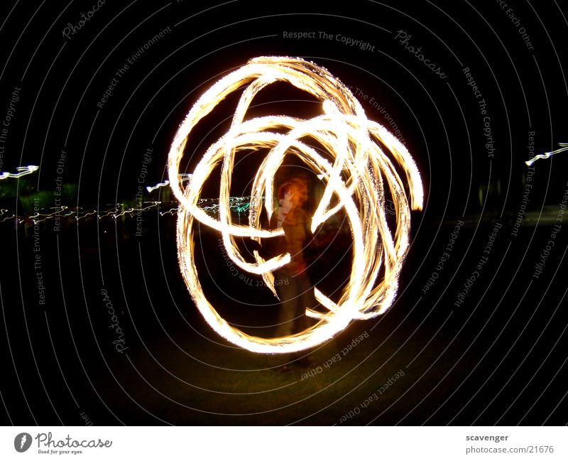 fire ring Night Dark Black White Yellow Long exposure Circle Dangerous Blaze Torch Bright Human being Threat
