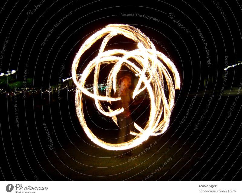 fire ring Night Dark Black White Yellow Long exposure Circle Dangerous Blaze Torch Bright Human being Threat