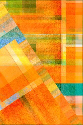 geometric colour play Lifestyle Elegant Style Design Joy Art Work of art Esthetic Authentic Exceptional Friendliness Retro Blue Multicoloured Yellow Orange