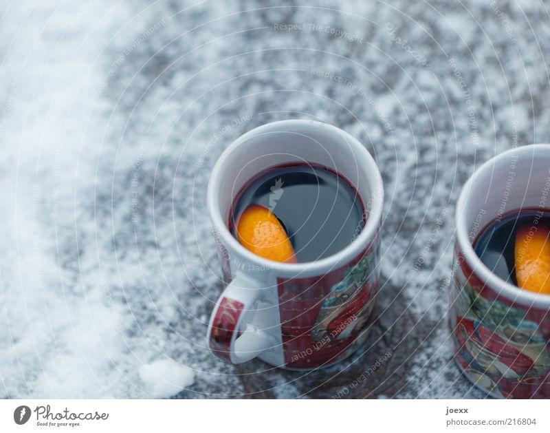 Christmas & Advent Winter Cold Snow Cup Citrus fruits Alcoholic drinks Orange Food Beverage Fruit Feasts & Celebrations Mulled wine Hot drink Orange slice