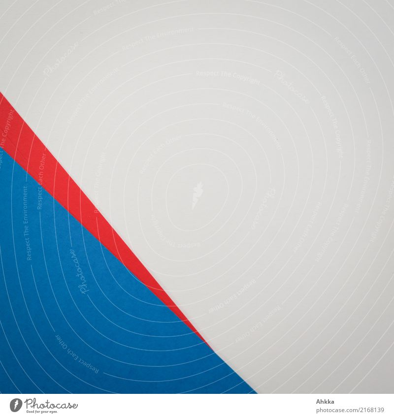 Blue corner, red arrow, white background, paper Office work Workplace Stationery Paper Piece of paper Line Arrow Red White Stress Energy Colour Contentment